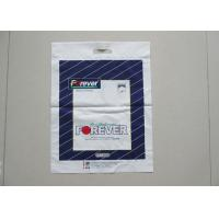 China Logo Printed Patch Handle Bags , Plastic Shopping Die Cut Handle Bags on sale