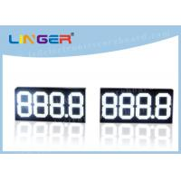 Quality 888.8 Digital Gas Price Signs , Electronic Oil Price Billboard White Color for sale