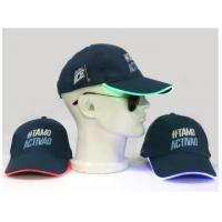Quality Custom Made LED Snapback Hats With Built - In Led Lights Short Brim Style for sale
