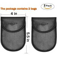 China Faraday RFID Blocker Pouch , Anti Tracking Signal Blocking Bag For Car Security on sale
