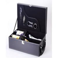 Quality leather wine gift box leather storage box luxury leather jewelry gift box for sale