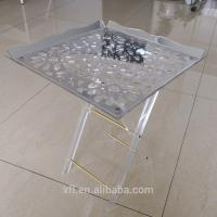 Quality Eye - Catching Custom Acrylic Furniture Folding Snack Table Snack Tray for sale