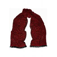 Quality women black and red open-knit cashmere scarf for sale
