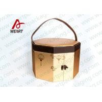Art Paper Custom Hexagon Gift Box , Corrugated Cardboard Boxes With Lids
