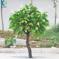 Durable Plastic Fruit Trees , 2m Height Artificial Mango Tree Wooden Case Packed for sale