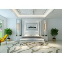 Buy cheap Metal bed frame bedroom furniture easy take Metal Panel Bed with Headboard from wholesalers