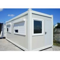 Quality White Color Flat Pack Container House With Roller Shutter Window For Holiday for sale