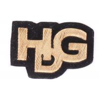 China Brown HDG Shape Embroidered Letter Patches , Embroidered Alphabet Patches on sale