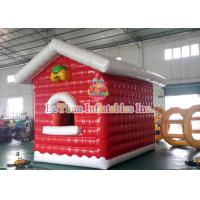 Quality Air Closed Movable Inflatable Christmas Tent Colorful Inflatable House fire retardant for sale
