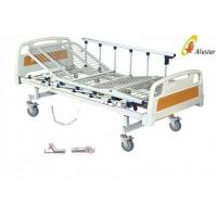 China Aluminum Alloy Foldable 2 Funtion Hospital Electric Bed With Mesh Steel Bedboard (ALS-E201B) on sale