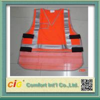 Quality Mesh Polyester LED Reflective Safety Vests / Safety Jacket High Visibility Red / Yellow / Green for sale