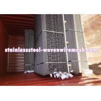 Quality Black Plain Crimp Mining Screen In Roll / Sheet (Black Wire Mesh Screen) Long Service Life for sale