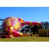 Quality Big Commercial Pool Water Slides / Funnel Water Slide Customized Size for sale