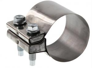 Quality T304 Polished 64mm 2.5 Stainless Exhaust Clamp for sale