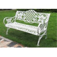Quality Waterproof Decorative Outdoor Furniture Steel Garden Bench 1290 * 590 * 850mm for sale