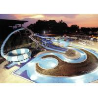 Quality 30X72m Floor Space Fiberglass Water Slide 4 Persons / Time Sliding Mode for sale