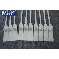 Quality Plastic Numbered Security Seals For Ballot Box , Pull Tight Seal White for sale