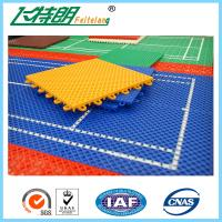 Quality PP Outdoor Interlocking Removable Playground Rubber Mats 250x250x12.7cm for sale