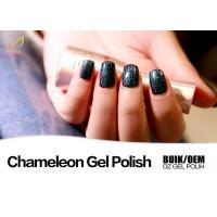 Quality No Smell UV & LED Chameleon Nail Varnish , Colour Changing Nail Polish Gel Quick Dry for sale