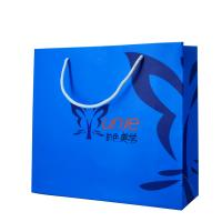 Quality Blue Personalised Paper Bags Full Color Printing Small Paper Gift Bags for sale