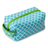 Quality Blue / Green Neoprene Pencil Case , Eco-friendly Cosmetic Bag With Zipper for sale