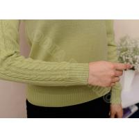 Elegant Long Sleeve Womens Casual Sweaters in Cowl Neck , Cable Knit Sweater For