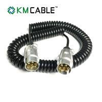 Quality Curly Flex Retractable Mains Cable PVC Outer Jacket Stranding Copper Wire for sale
