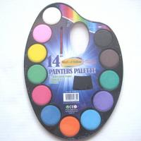 Buy 14 water color painters set with paint brush,Aquarela 14 colour paint set with brush at wholesale prices