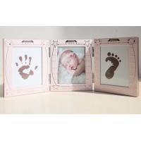 Quality Lovely Aluminum New born Baby Handprint and Footprint Photo Frame Kit with a EN71 passed Ink Pad for sale