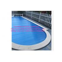 Quality PC Pool Control System Above Ground Automatic Pool Cover Transparent Blue for sale