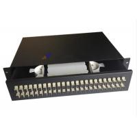 Quality Steel Sc Fiber Optic Joint Box , 48 Port Fiber Patch Panel Drawer Type for sale