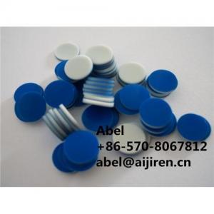 Quality teflon ptfe/silicone/F4 septa rubber septa 9mm septa blue ptfe for sale