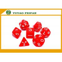Quality Poker Accessories White / Solid 4 6 8 10 12 Polyhedral Dice Set , Custom 20 Sided Dice for sale