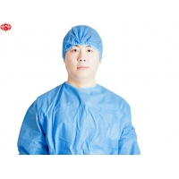 China Non Woven Bouffant Round Elastic Disposable Mob Cap Head Cover on sale