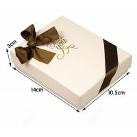 Luxury Soft Touch Lamination Jewelry Paper Boxes Square Book Style