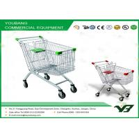 Quality Easy moving Chrome Supermarket Shopping Trolley Carts With Safety Belt for sale