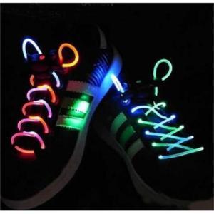 China LED Flash Light Glow Shoelaces Shoe Lace DISC on sale