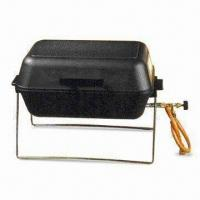 China Die-cast Aluminum Quality Portable Gas BBQ Grill with Regulating Valve and Lava Rocks on sale