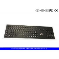Buy cheap Industrial Electroplated Black Metal Keyboard With Full Keys, Trackball and from wholesalers