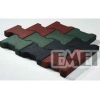 Quality Self-drainage driveway rubber flooring tile for sale