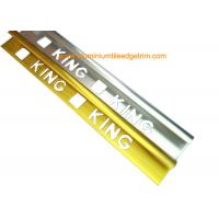 Quality Quadrant Wall Tile Metal Trim Aluminium Edging Strip With King Punching Holes for sale