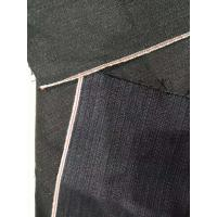Quality Selvage Corduroy Cotton Navy Denim Fabric  Soft Touch 13.2oz W2992-2 68*41 Density for sale