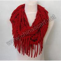 China Red Neck Warmer with Tassels on sale