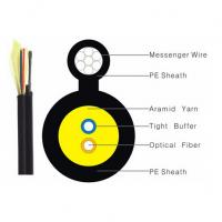 Buy Black Color FTTH Indoor Drop Cable 1/2/4 Core Figure 8 G652D G657A OM1 OM2 OM3 at wholesale prices