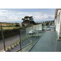 China Aluminum Deck Railing Outdoor U Channel Glass Balcony Railing Design on sale