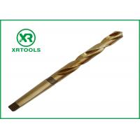 Quality HSS Cobalt M35 Taper Shank Drill Bit For Stainless Steel / Matel Milled Process for sale