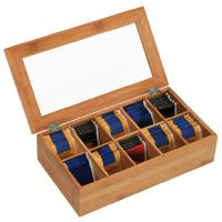 China customized wooden tea storage box with acrylic lid on sale