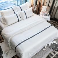 ECO-friendly linen Wholesale Bed Sheet for Star Hotel 100% Cotton Linen bed sheets