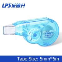 Quality Anti Slip Grip Mini Blue Colored Correction Tape Roller 6 Meter Plastic for sale