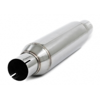Quality Round 1.2mm 4 Inch Inlet Outlet Car Exhaust Resonator for sale